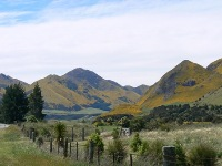 Picturesque countryside near Hanmer Springs
