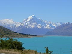 Mt Cook from near the southern end of Lake Pukaki