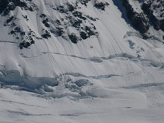 Potential avalanche on Mt Sefton