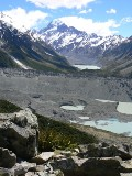 Mt Cook & Hooker Valley from Sealy Tarn
