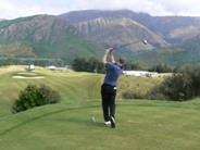 18th tee shot at The Hills Golf Club