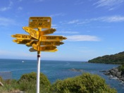 Kiwi icon, the signpost at Bluff, the end/start of SH1