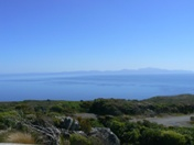 Looking across Foveaux Strait from Bluff to Stewart Island
