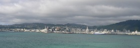 The port of Wellington on a broody day